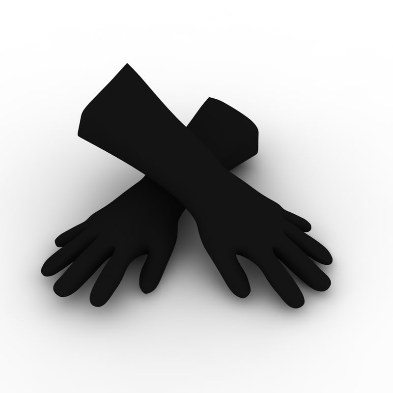 industrial gloves 3d 3ds