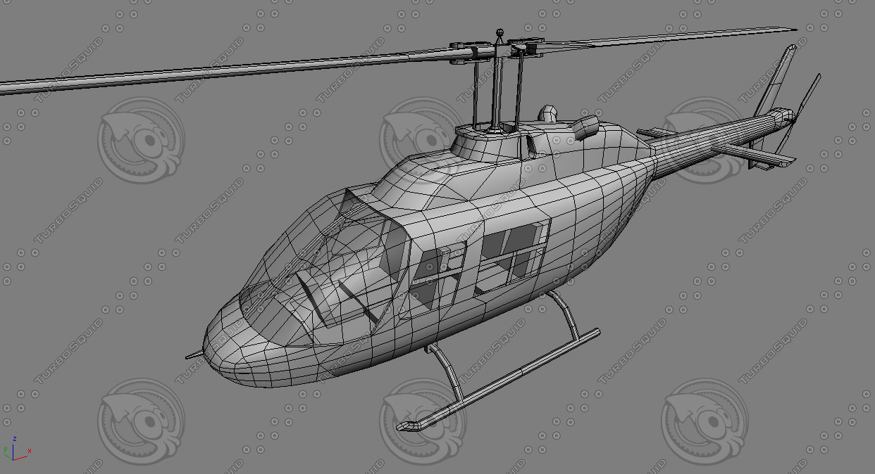 3d model chopper games