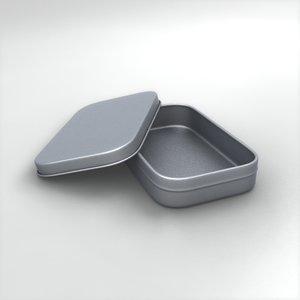 tin box 3d obj