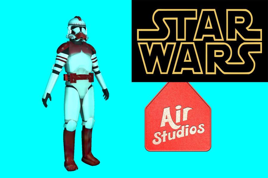 clone trooper star wars 3d obj