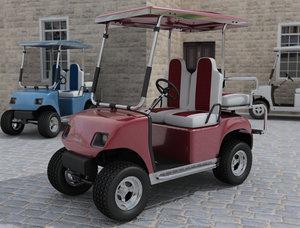 3d model golf cart car