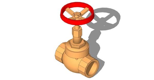 3ds max gate valve