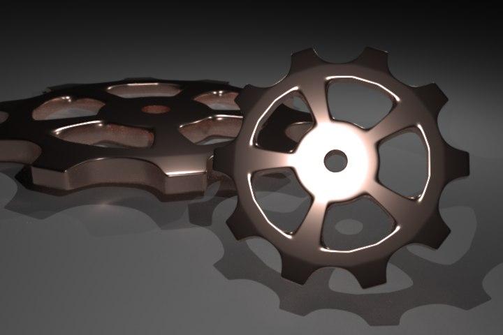 set 7 gears 3d 3ds