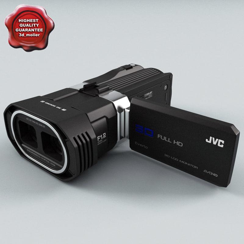 c4d jvc gz-td1 hd camcorder