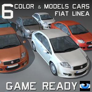 car wheel 6 color 3ds
