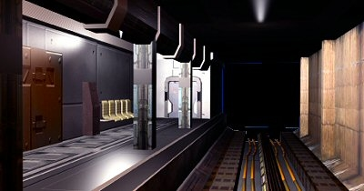 3d model scifi subway station