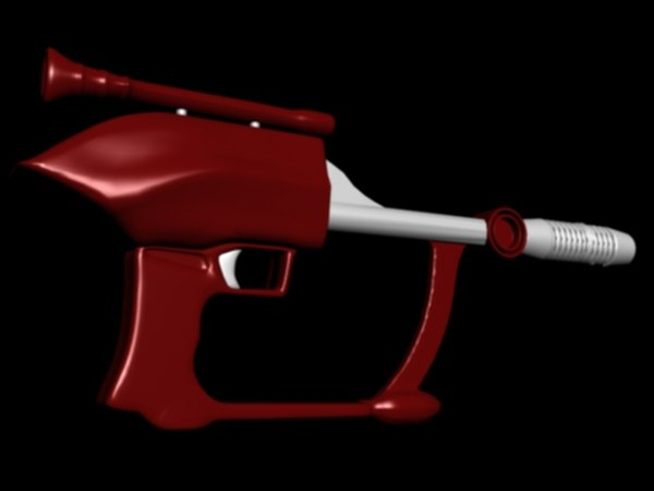 free alien gun 3d model
