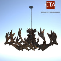 3ds max antler chandelier
