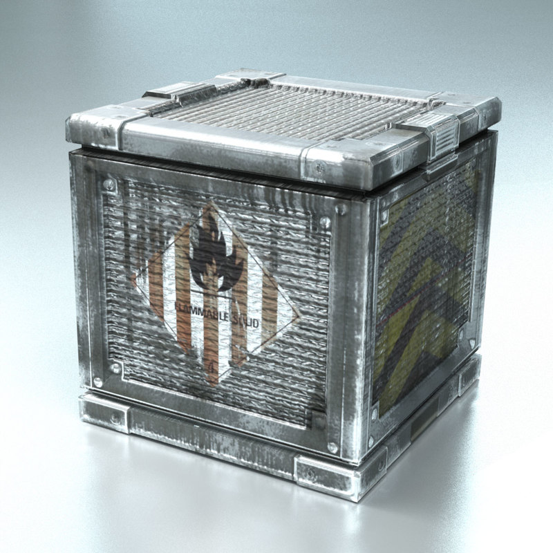 3d model tech crate