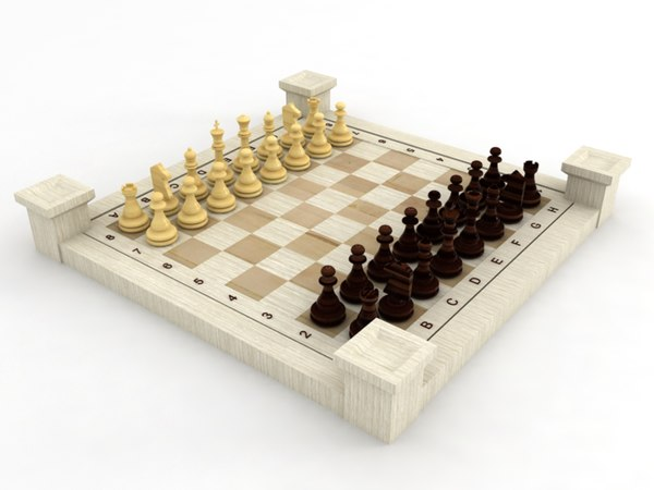 3d decoration chess model