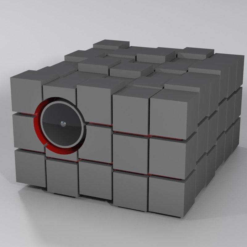 3d cube projector