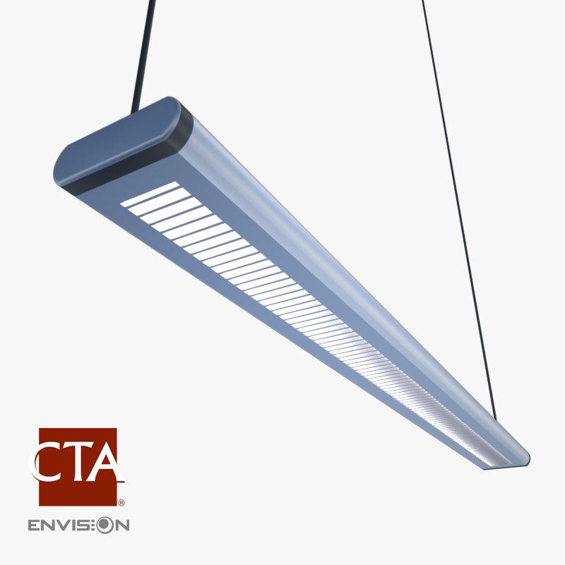 fluorescent ceiling light 3d 3ds
