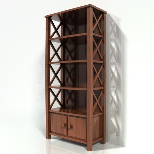 bookshelf wood 3d model