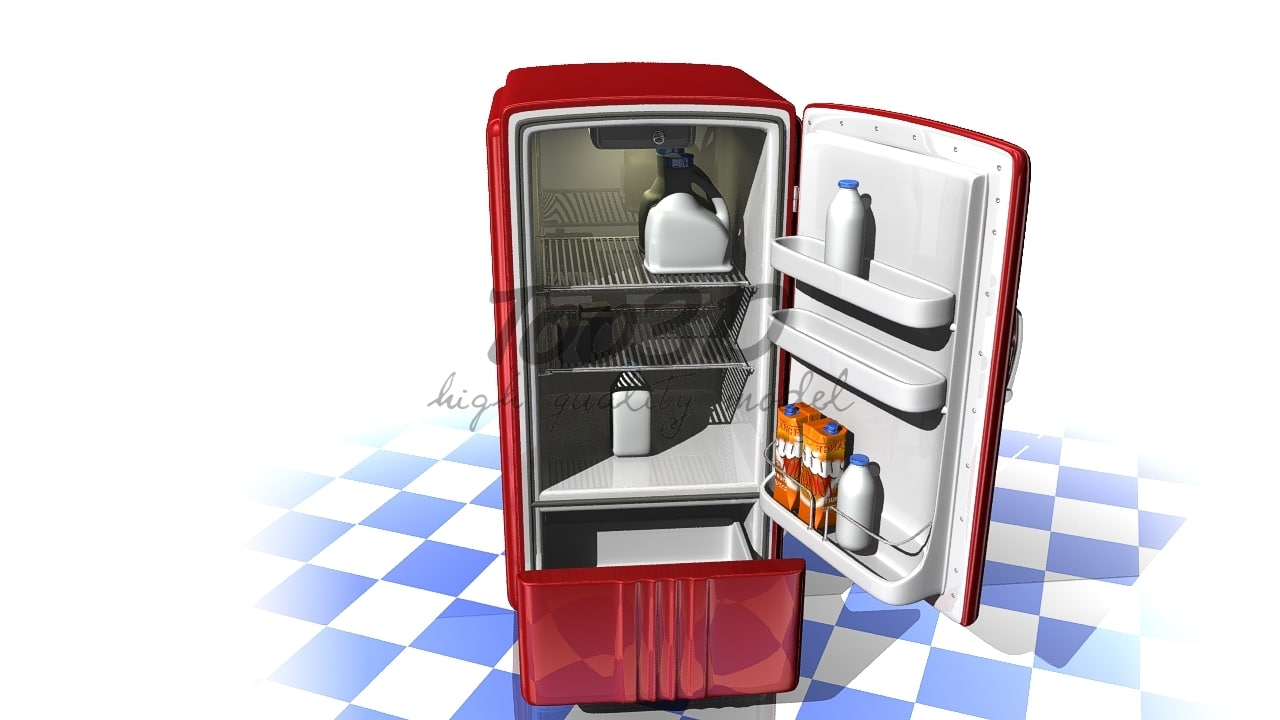 max old style refrigerator