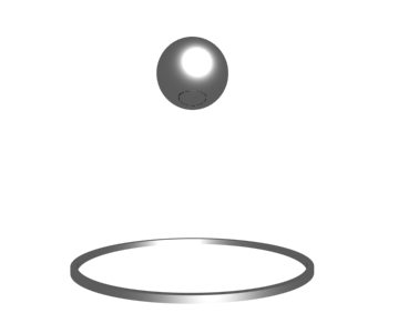 bouncing ball animation 3d model