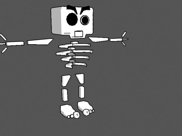 free max mode cartoon games biped skeleton