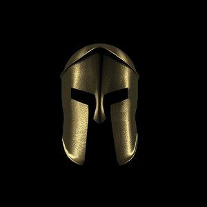 3ds brass spartan helmet