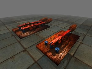 3d model of old knife switches