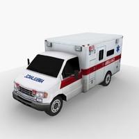 ambulance mobile games 3d model