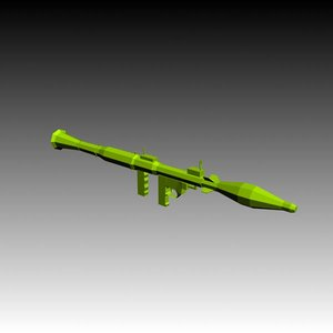 free missile launcher 3d model