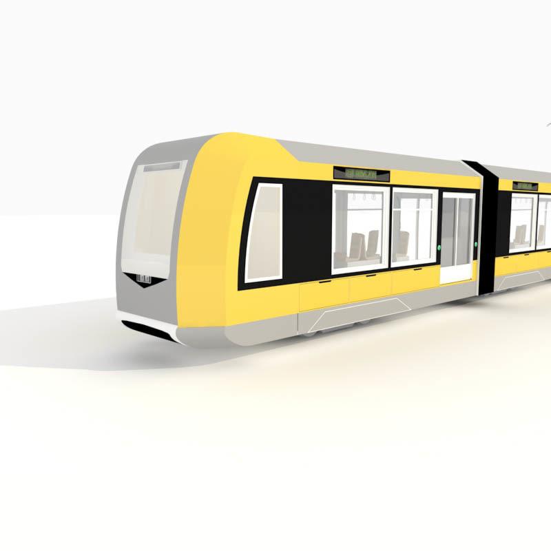 3d tram city model