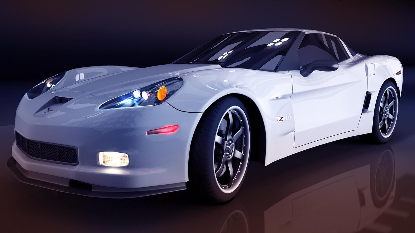 3d model corvette chevrolet