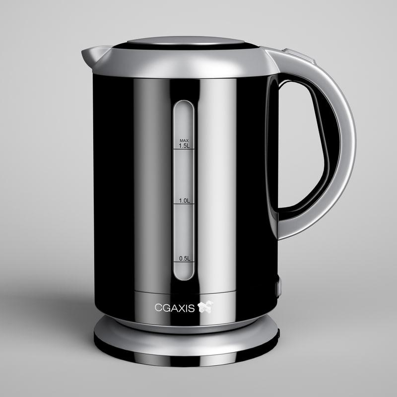 3d electric kettle 01 model