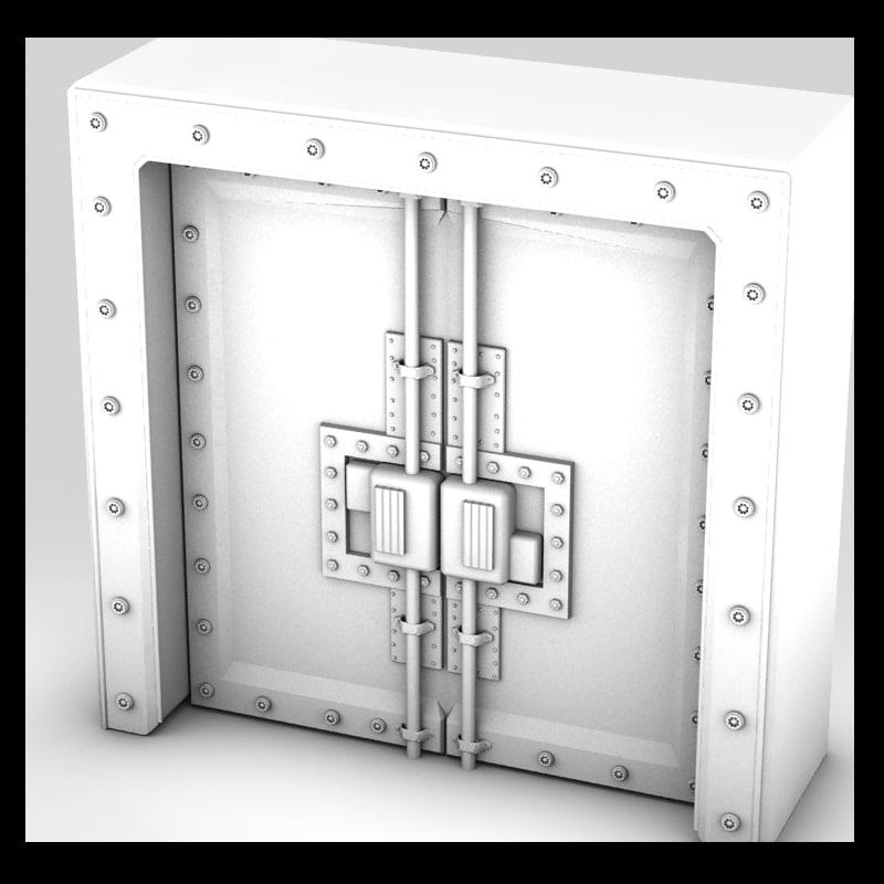 metal door 3d model