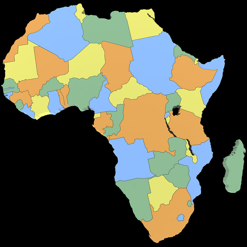 3d model africa african nations