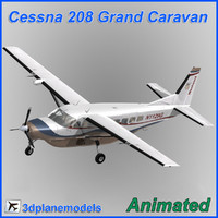 cessna 208 caravan grand 3d obj