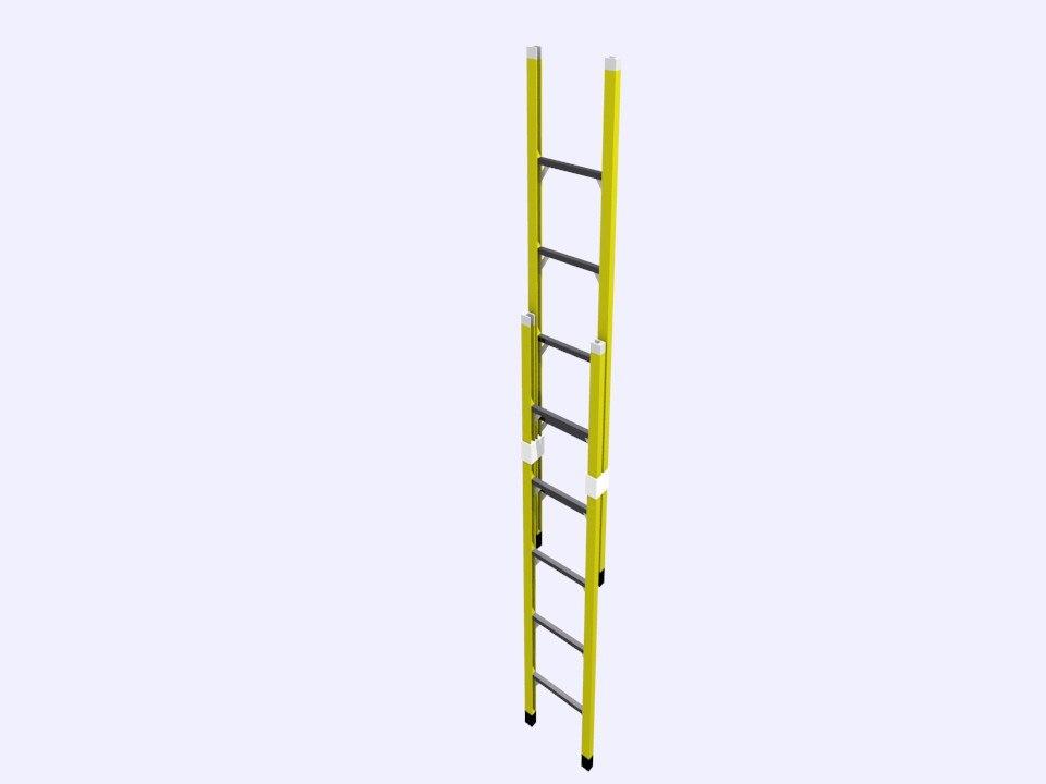 ladder extended 3d model
