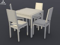 3d model kitchen furniture