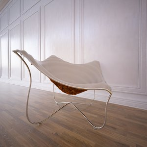 3d paisley chair