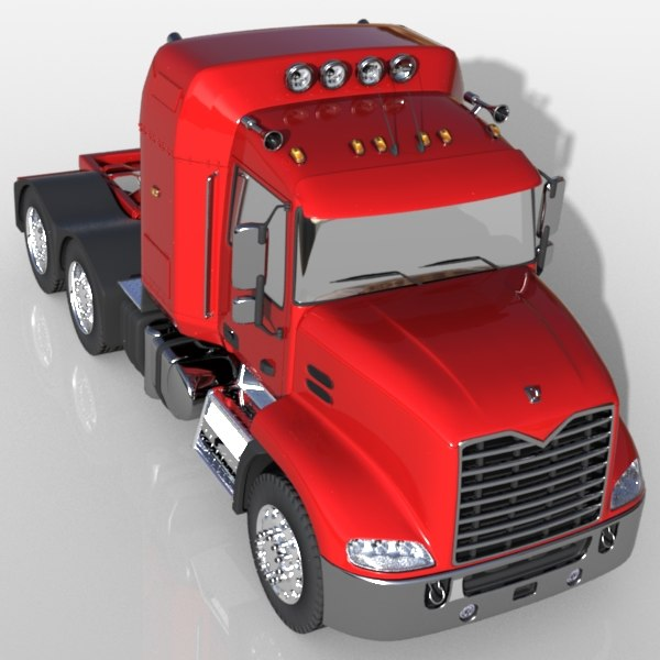 3d model mack pinnacle truck