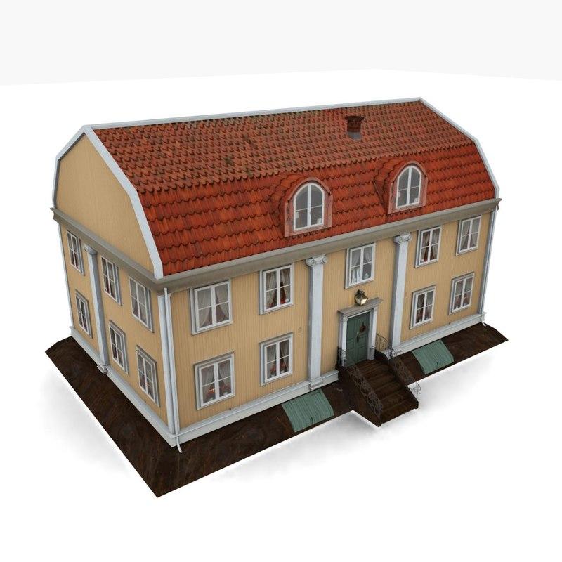 old rural house 3d model