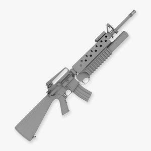 obj m16a2 rifle m203