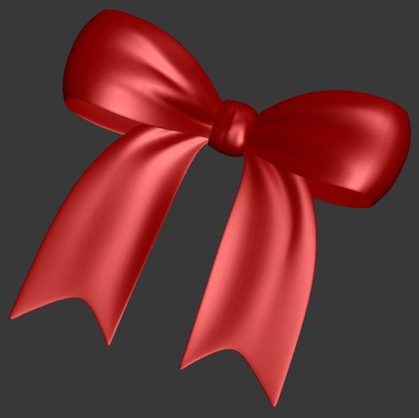 3d model ribbon bow