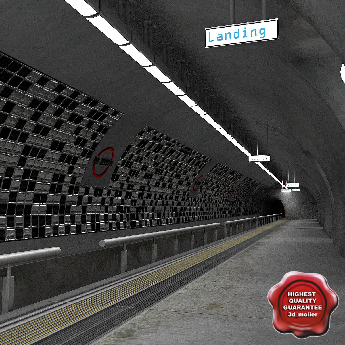 3d model of subway station