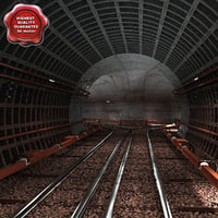 3ds max subway tunnel