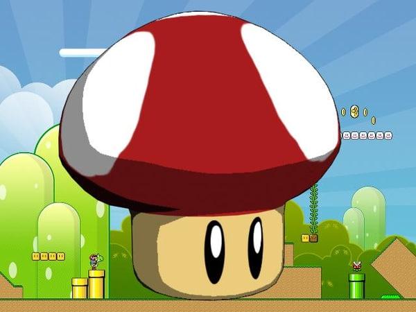 3d super mario mushroom model