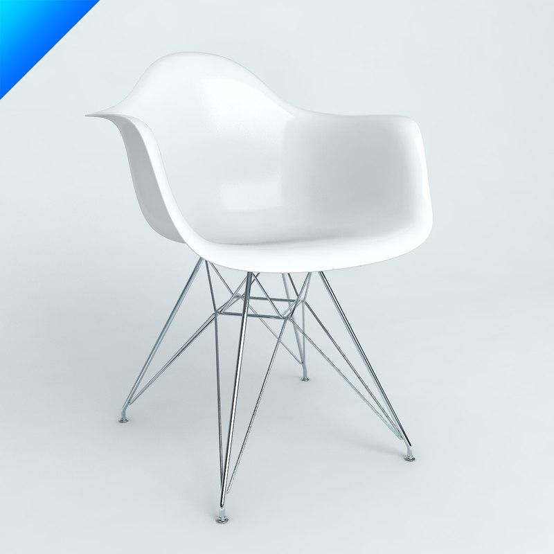 3d model plastic armchairs eames. model plastic armchairs eames