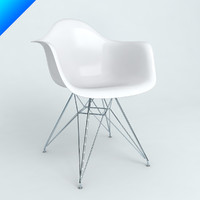 3d model plastic armchairs eames