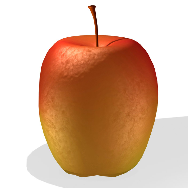 3d model of hd apple