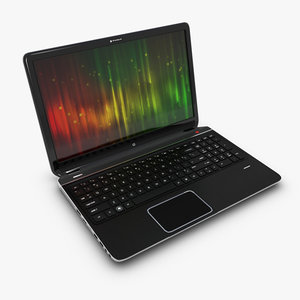 3d model hp notebook