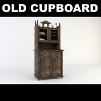 3d old wooden cupboard