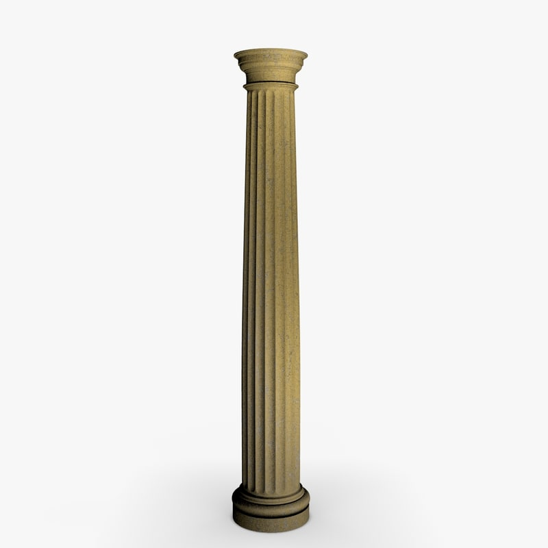 greek doric column 3ds