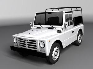 fiat campagnola swb 3d model