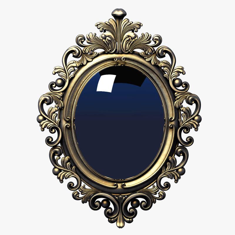 3d frame baroque oval