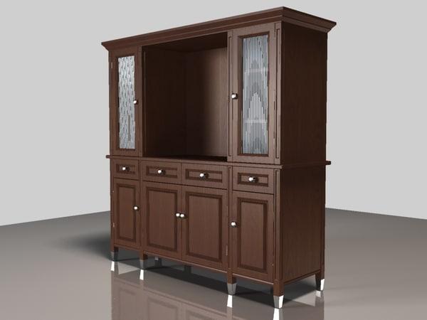 door hutch cabinet 3d model