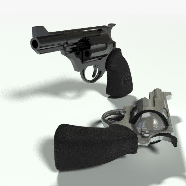 snub revolver 3d max